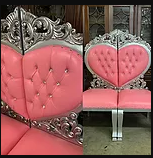 PINK/SILVER SWEETHEART CHAIRS