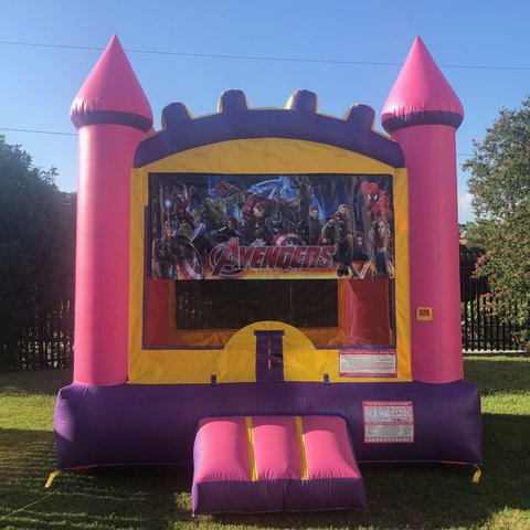 Avengers Pink Bounce House Rental