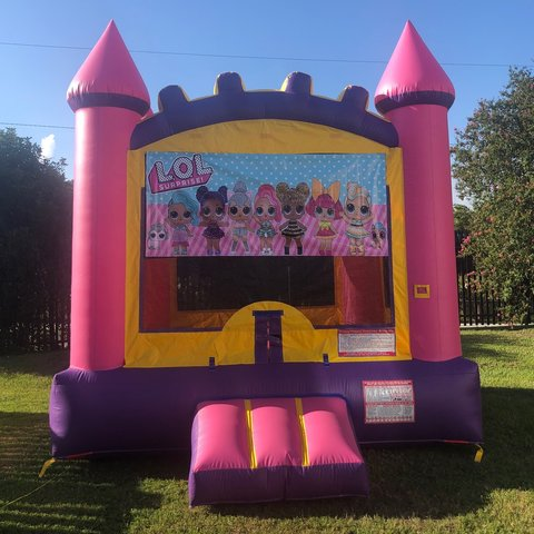 Pink LOL Bounce House Rental