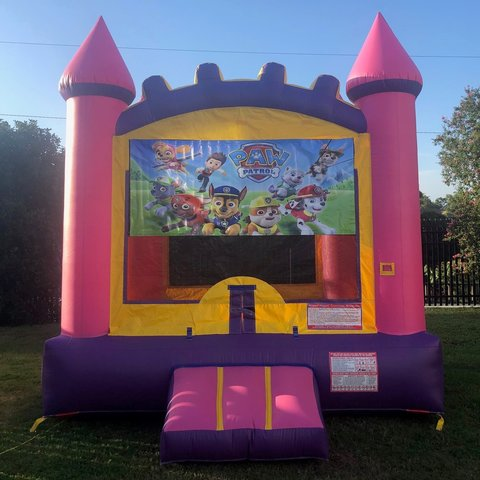 Pink Paw Patrol Bounce House Rental
