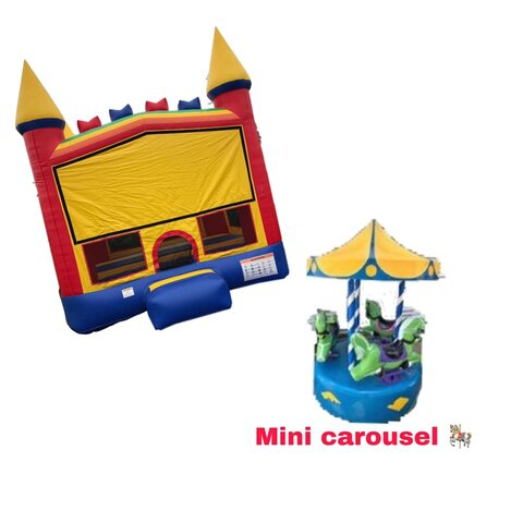 mini carousel & bounce package