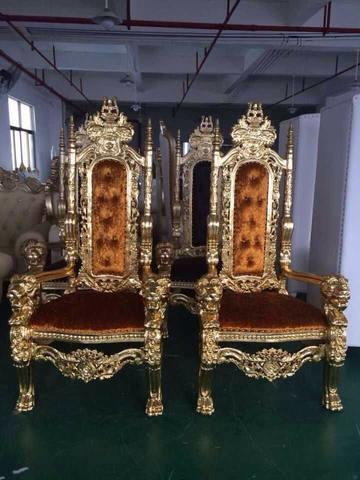 One Gold Throne Chair
