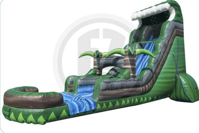 24 ft Emerald crush Water Slide (pool)