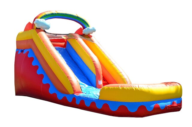 15 ft Rainbow slide w(pool)