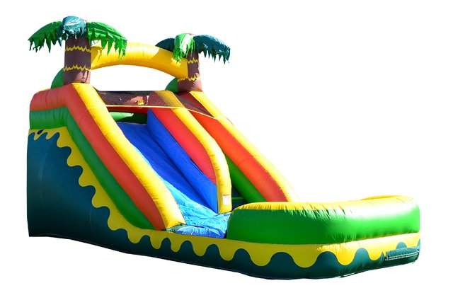 15 ft tropical aloha water slide