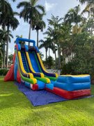 24 ft multi color slide (landing pad)