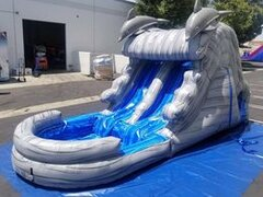 13 Ft Dolphin slide (pool) Double lane