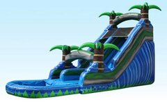20 ft Blue Island Splash waterslide (pool)