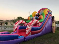 20ft Candy Land WaterSlide Wet/Dry