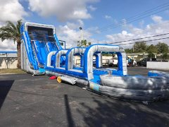22 Feet Marble Blue Ice Waterslide (wit slip and slide )