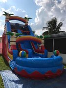 17 ft tropical beach ball waterslide