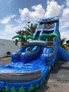 24 ft high Bahama Breeze Paradise Water slide w/pool