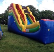 16 ft Half Pipe Water Slide/ Dry Slide