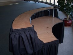 Serpentine Bar Table (w/tableskirt)
