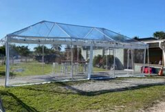 15x30 Clear Tent With String Lights