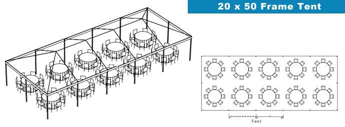 20x50 Frame tent Bounce House & Party Rentals | ABounceableTime.com ...