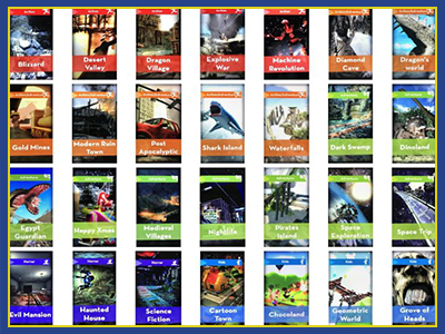 Collection of titles for Virtual Reality Roller Coaster Rides.