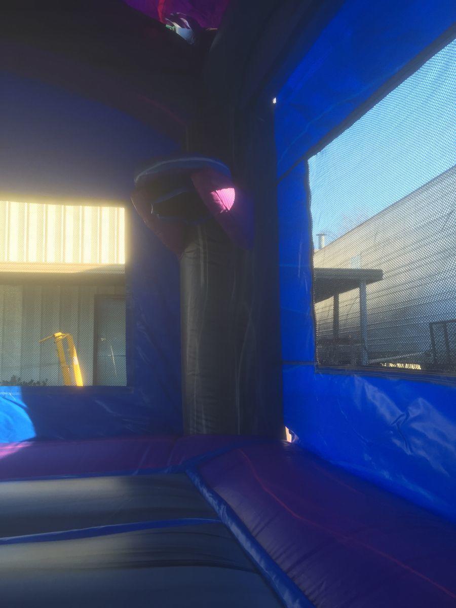 mini purple crush combo bounce house party rentals