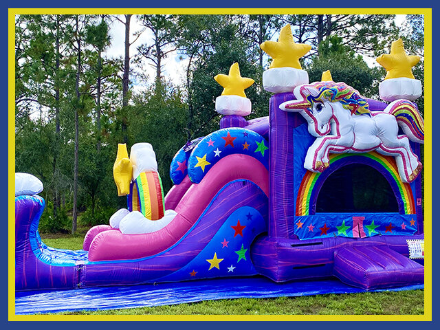 3D Unicorn Combo Water Slide