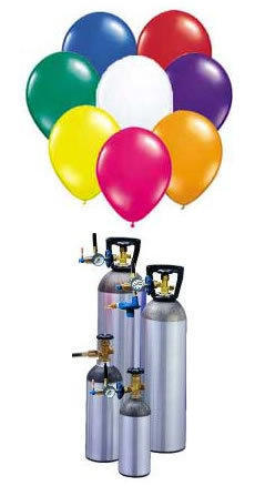 Helium Tank rental he40 37 cubic ft with filler