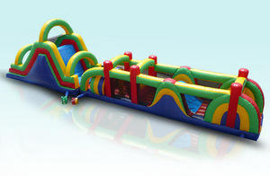 68ft DELUXE OBSTACLE AND SLIDE