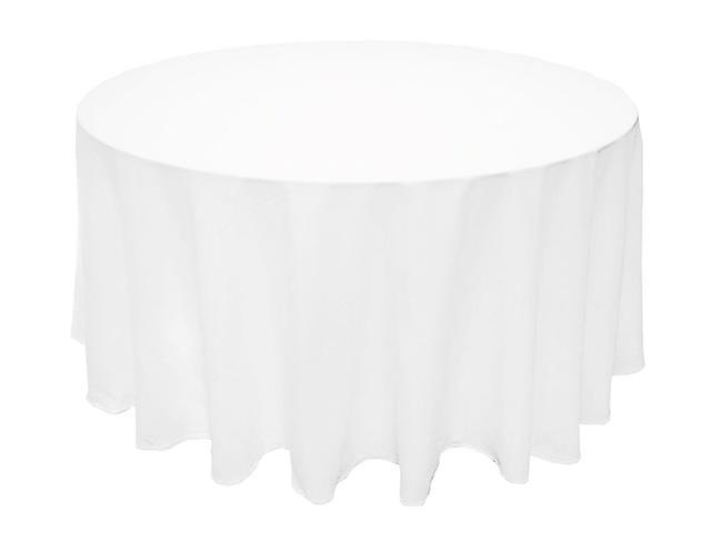 White Tablecloth for 60 Inch Round table