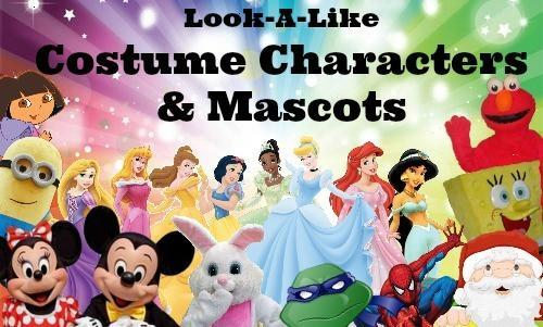 Look-A-Like Costume Characters and Mascot Packages