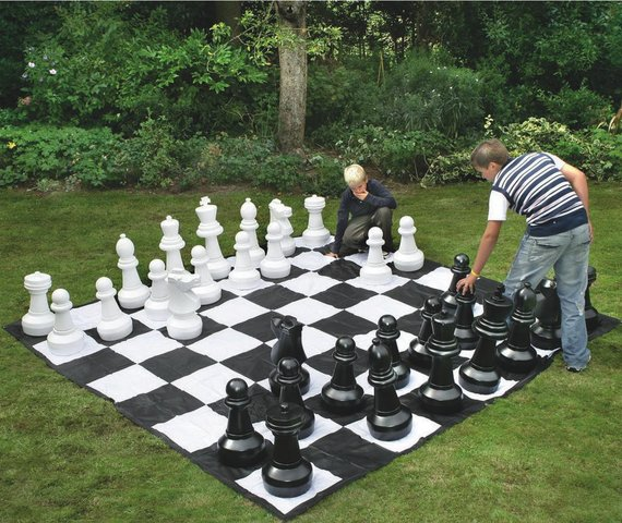 Giant Chess Board game Jumbo Checkers