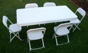 Childrens 6 Ft Rectangular Banquet Table and 6 Chair set
