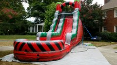 18' Red Hot Toxic Water Slide with Pool