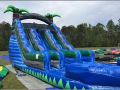 NEW 16' Dual Lane Blue Crush Water Slide