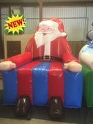 Giant Larger Than Life Santa Claus Chair Novelty inflatable