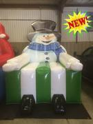Giant, Jumbo Frosty the Snowman Chair Novelty inflatable