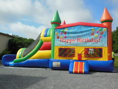 Happy Birthday Balloon Jumper and slide