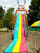 3 Lane Fun Slide over 65' long
