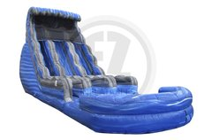 18' Big Blue Dual Lane Water Slide