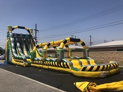 27' Toxic Drop 3 lane Lane Water Slide and Slip 'n Slide