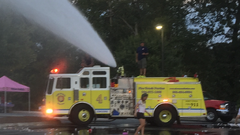 2 Alarm Fire Truck Party Rental. Engine 4 Water Party