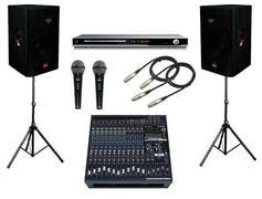 NEW Wireless PA System w/ 2 Mics, Mixer and 2 speakers