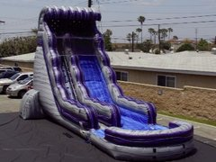22' Purple Granite Crush Water Slide