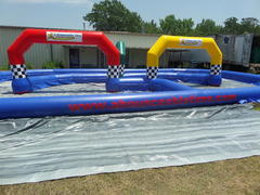 ABT Inflatable Track with 4 jumbo Trikes