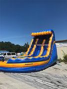 18' Dual Lane Sunkist Twist Water Slide
