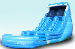 Tsunami Dual Lane Water Slide and Pool