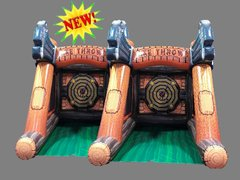 Axe Throwing Inflatable Dual Battle Axes Challenge Interactive Inflatable
