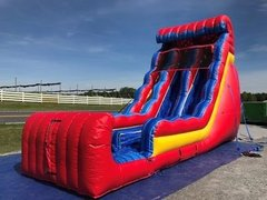 22' Big Red 2 lane Lane Water Slide and Pool
