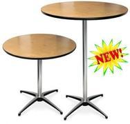 36 inch round Cocktail tables 30 or 42 inch height