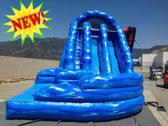 18' Dual Lane Curvy Water Slide