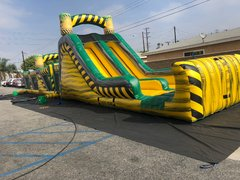 Toxic Eliminator Obstacle Course w/ Slide 72' long