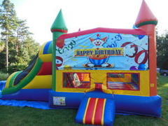 HAPPY BIRTHDAY CLOWN JUMPER COMBO WITH DRY SLIDE