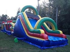 16 Ft DUAL LANE DRY SLIDE